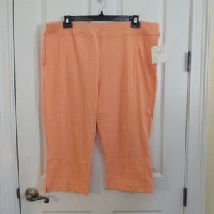 NWT - SUN BAY knit pull-on Capri pants - sz  XL